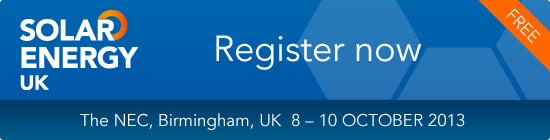 Register now for Solar Energy UK 2013